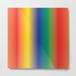 Colourful Rainbow Shades Follow the Rainbow Metal Print