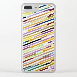 Rainbow Rain Clear iPhone Case