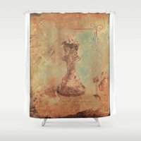 kit king Shower Curtains featuring King by Fernando Vieira