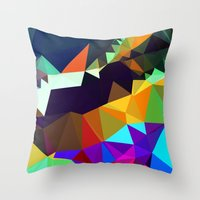 bands Throw Pillows featuring harlequin bands by Tulipe Studio