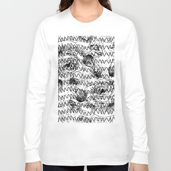 Floral graftti Long Sleeve T-shirt