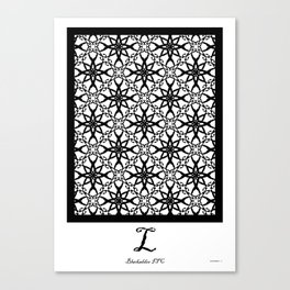 LETTERNS - L - Blackadder Canvas Print