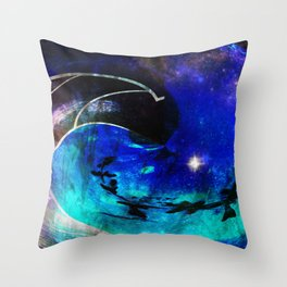 Down The Wormhole Abstract Throw Pillow