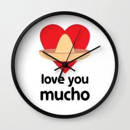 Love You Mucho Wall Clock