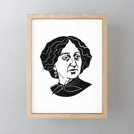 George Sand Framed Mini Art Print