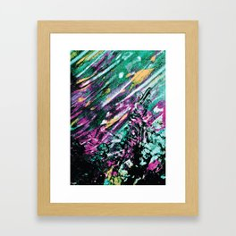 Galaxy Painting Framed Art Print