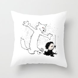 Ghost and Snow Throw Pillow