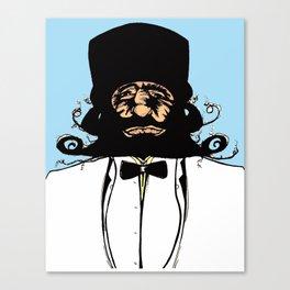 """Mustachat in Technicolor"" Canvas Print"