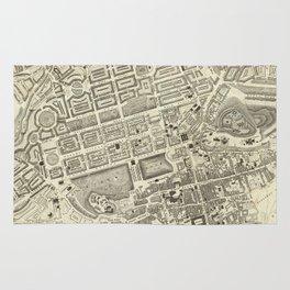 Vintage Map of Edinburgh Scotland (1844) Rug