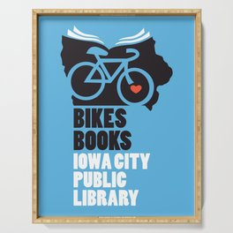 Bikes Books Iowa City Public Library Serving Tray