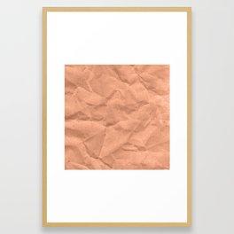 Kraft paper. crumpled paper Framed Art Print
