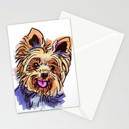 The cute smiley Yorkie love of my life! Stationery Cards
