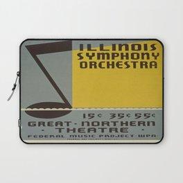 Vintage poster - Illinois Symphony Orchestra Laptop Sleeve