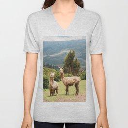Llama Party Unisex V-Neck