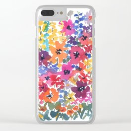 Bright Summer Garden Clear iPhone Case