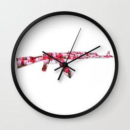 Flower Power Tulip AK47 Wall Clock