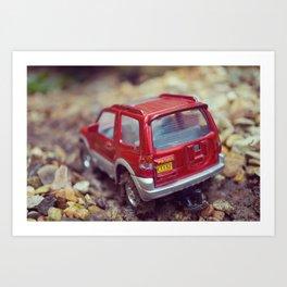 Micro Toy Car Art Print