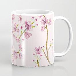 Spring Flowers - Pink Cherry Blossom Pattern Coffee Mug