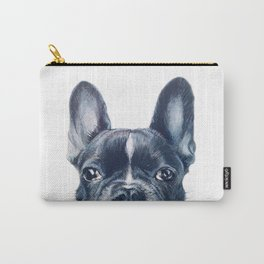 Hand painting French Bulldog Dog illustration original painting print Carry-All Pouch