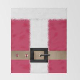Christmas , Santa Claus , red Throw Blanket