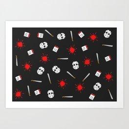 Friday the 13th pattern Art Print