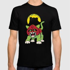 Battle Kitty's Mighty RAWR!  Mens Fitted Tee Black LARGE