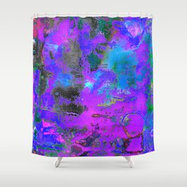 Color Cracking Shower Curtain