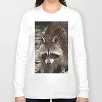 racoon Long Sleeve T-shirts featuring Racoon by MehrFarbeimLeben
