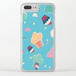Cupcake blue Clear iPhone Case