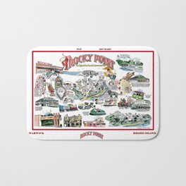 Rocky Point Amusement Park, Warwick, Rhode Island History Art Bath Mat