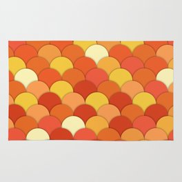 Laranja . Orange Rug