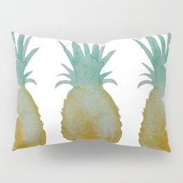 Watercolor Island Pineapples Pillow Sham