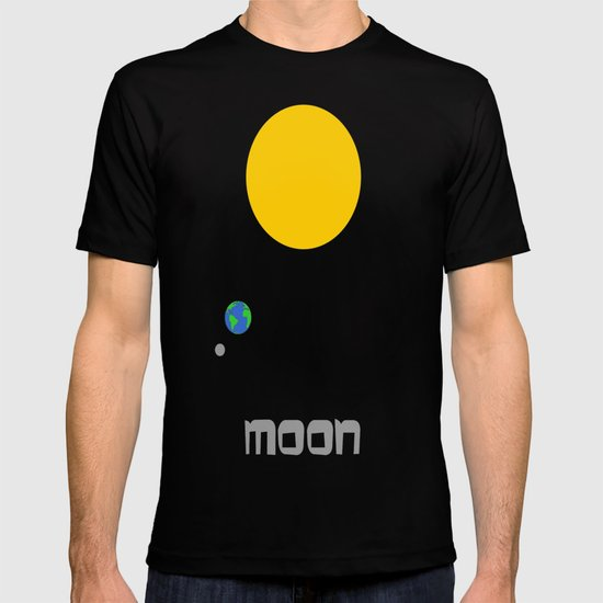 The Moon in Minimal T-shirt