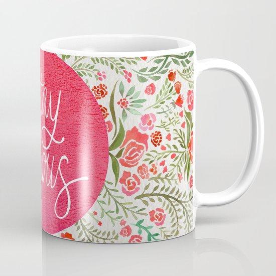 Stay Curious – Pink & Green Mug