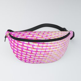 Eye Play in Pink and White Fanny Pack