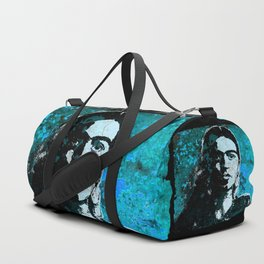 FRIDA - turquoise grunge Duffle Bag