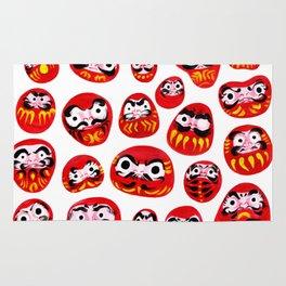 Japanese Daruma Characters Rug