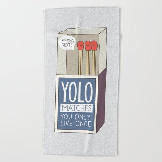 YOLO Beach Towel