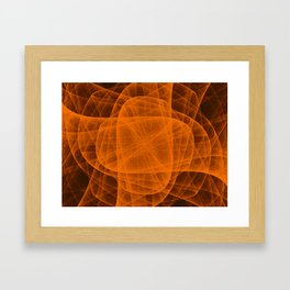 Eternal Rounded Cross in Orange Brown Framed Art Print