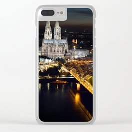 Cologne Cathedral and Hohenzollern Bridge Clear iPhone Case