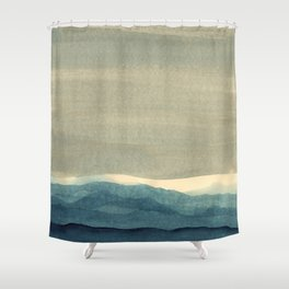 Grey Landscape Shower Curtain