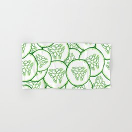 Cucumber slices pattern design Hand & Bath Towel
