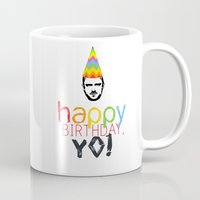 jesse pinkman Mugs featuring Breaking Bad Birthday Card Jesse Pinkman by raeuberstochter