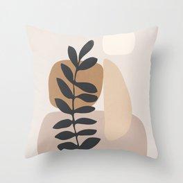 Abstract Art /Minimal Plant 6 Throw Pillow