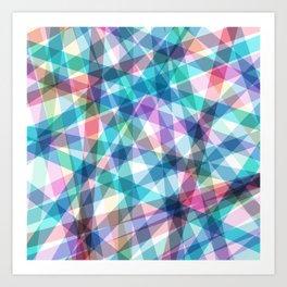 Lazer Dance Pastel Art Print