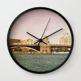 Red Line Wall Clock