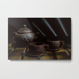 teapot and cups Metal Print