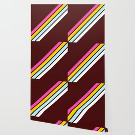 80's Style Retro Stripes Wallpaper