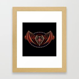 Gothic Heart With Wings Tattoo Design                                                       Framed Art Print