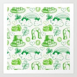 sant ptrick day, irish gift, ireland, Art Print